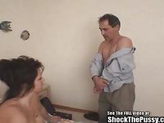 Big boobied bitch electrofied and fucked hard