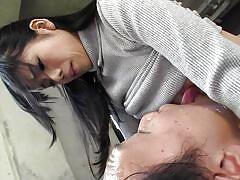 Tiny japanese lady sucking dick