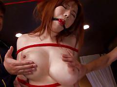 threesome, bdsm, big tits, japanese, pussy licking, censored, fingering pussy, redhead babe, mouth gag, erito av stars, erito, anri okita