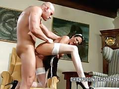 Classy maid naomi montana screwed hard for climax