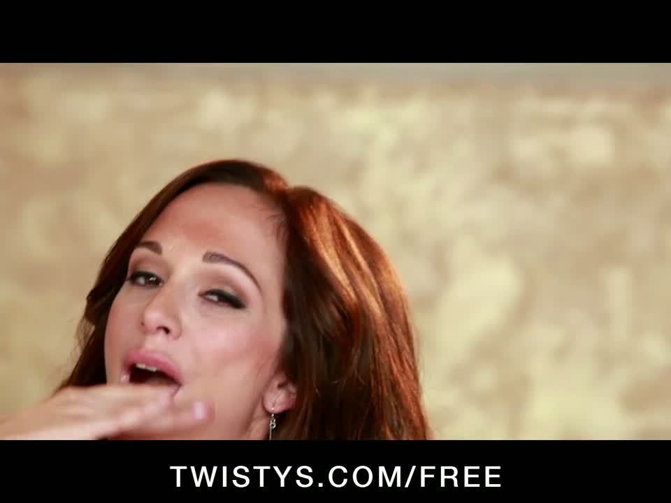 Twisty - hot big-tit redhead destiny dixon fingers her pussy