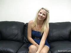 Russian blonde newbie fucked in casting