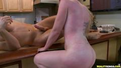 Blonde mom fuck in kitchen