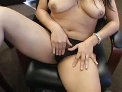 Bust brunette loves sucking and fucking big cock