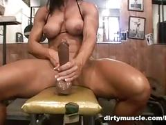 Gym dildo play