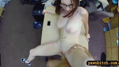 Big natural tits babe pawns her snatch and got pounded