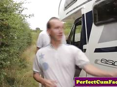 Bukkake in a motorhome for brunette alexa shore