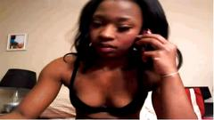 Ebony on webcam