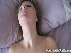 amateur, wife, housewife, vibrator, female, orgasm, sleeping, pan