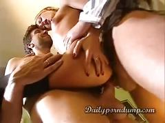 Blond double-anal