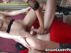 Thai threesome riza and backara