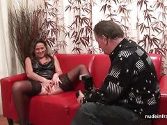 Amateur casting mature hard dp fisted and facialized in threeway