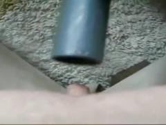 Girl and vacuum cleaner fun