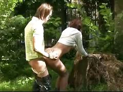Russian teen couple having sex in public places