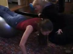British slut karina in a lesbian scene
