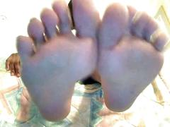 Ebony girl toe jerk game