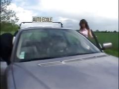 Baise auto ecole