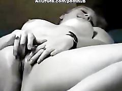Hot amateur girl playing with her pussy