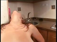 Hot pregnant girl masturbates