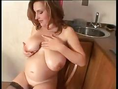 brunette, fetish, masturbation, pregnant, masterbation, prego, big-tits, big-boobs, strip, oil