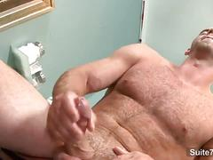 Grith brooks plays with his big stiff cock in solo