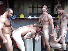Hot boys have a naughty gangbang