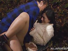 japanese, blowjob, asian milf, censored, outdoors, pussy rubbing, tits licking, hard fucking, outdoor jp, all japanese pass