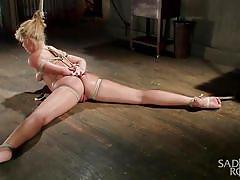 Carmen tied up and awfully bonded
