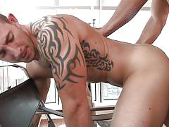 tattoo, gay blowjob, gay anal, gay, gay kissing, gods of men, men, phenix saint, richard pierce