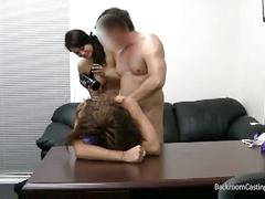 Threeway cock sharing casting fucking