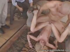 Beautiful blonde wife screwed and had a facial