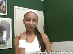 Teen babysitter alexis spreading her pussy