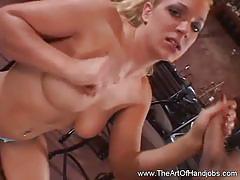 The art of handjobs: horny milf giving hot handjob