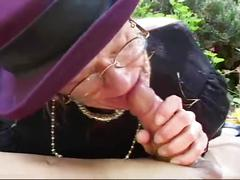 hardcore, public, mature, old/young, granny, outside, natural-tits, cock-sucking, oral, fellatio, dick-sucking, blow-job, pussy-fucking, perky-tits, pussy-pounding, cumshot, bj, orgasm