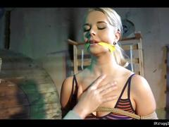 Nikky dream on a string bound gagged stripped whipped vibed
