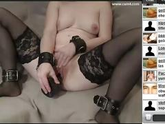 German hubby showing his wife inserts big dildo