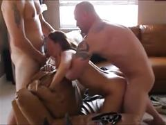 Two dicks and a slut wife!