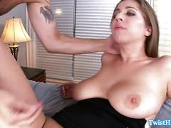 Busty classy alex chance fucked in mouth