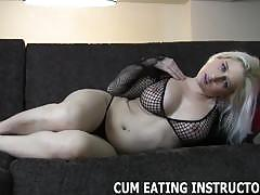 Cum for your mistress and then lick it all up cei