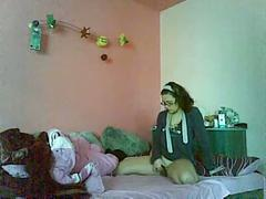 Young romanian girl masturbating
