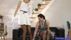 Glam mature initiates lez stocking sex