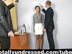 Totally undressed job candidate