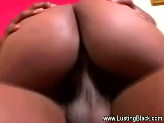 Dirty black guy goes down on ebony sluts wet pussy