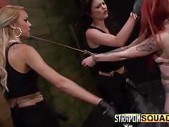 threesome, redhead, whipping, strap on, slave, domination, babes, choking, black dildo, strapon squad, fetish network, mila blaze, sheena rose, brooklyn daniels