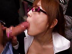 Bitch sucks cock in public