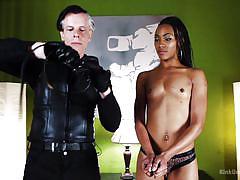 bondage, interracial, high heels, domination, blowjob, ass fuck, handcuffed, ebony babe, kink university, kink, danarama, nikki darling
