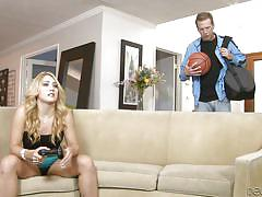 blonde, babe, couch, deep throat, on knees, devils film, fame digital, aj applegate, mark wood