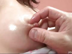 Rui's trimmed pussy creampied