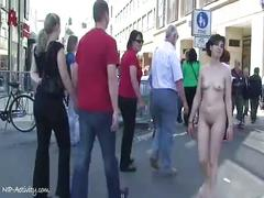Spectacular public nudity with miriam and celine