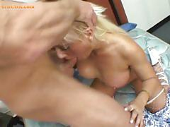 Ugly blonde with big tits enjoying a big hard cock